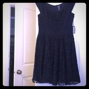 Vera Wang Navy Lace Dress